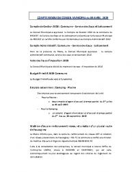 Conseil municipal du 9 avril 2019