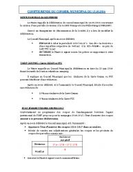 Conseil municipal du 13 octobre 2016