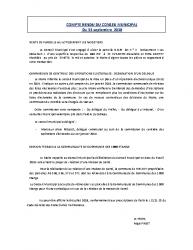 Conseil municipal du 13 septembre 2018