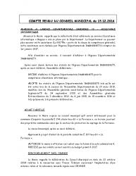 Conseil municipal du 15 décembre 2016