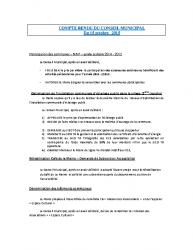 Conseil municipal du 15 octobre 2015
