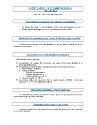 Conseil municipal du 17 décembre 2014