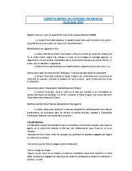 Conseil municipal du 26 juin 2015