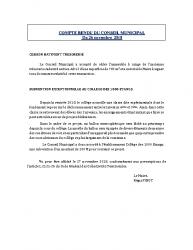 Conseil municipal du 26 novembre 2018