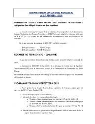 Conseil municipal du 27 février 2018