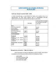 Conseil municipal du 28 mai 2015
