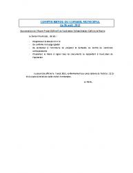 Conseil municipal du 6 août 2015