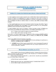 Conseil municipal du 8 septembre 2014