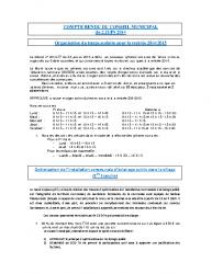 Conseils municipaux des 2 et 20 juin 2014